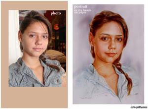 Πορτρέiτο του μια κοπέλα