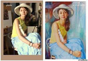 Πορτρέτο του μια κοπέλα, με λαδι σε καμβά
