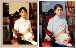 Πορτρέτο του ένα κορίτσι, με λαδι σε καμβά