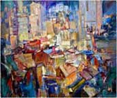 Paint of the night city