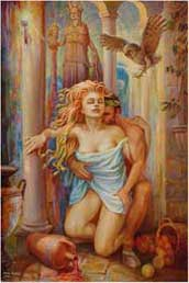 Gorgon Medusa and Poseidon