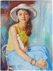 daughter, oil portrait
