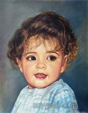 pastel drawing little girls