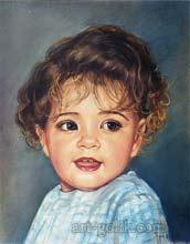 pastel drawing little girls