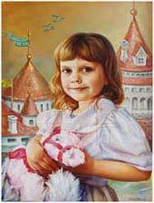 παιδικά πορτρέτα με λάδι