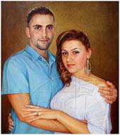 διπλό πορτραίτο σε καμβά